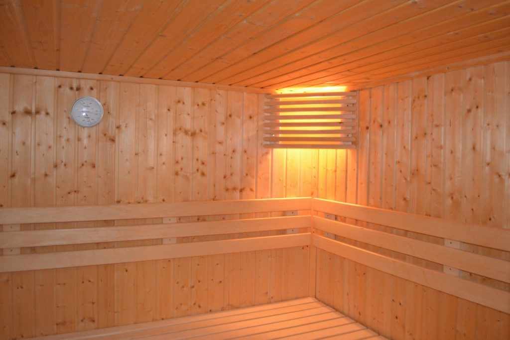 interior of a far infrared sauna