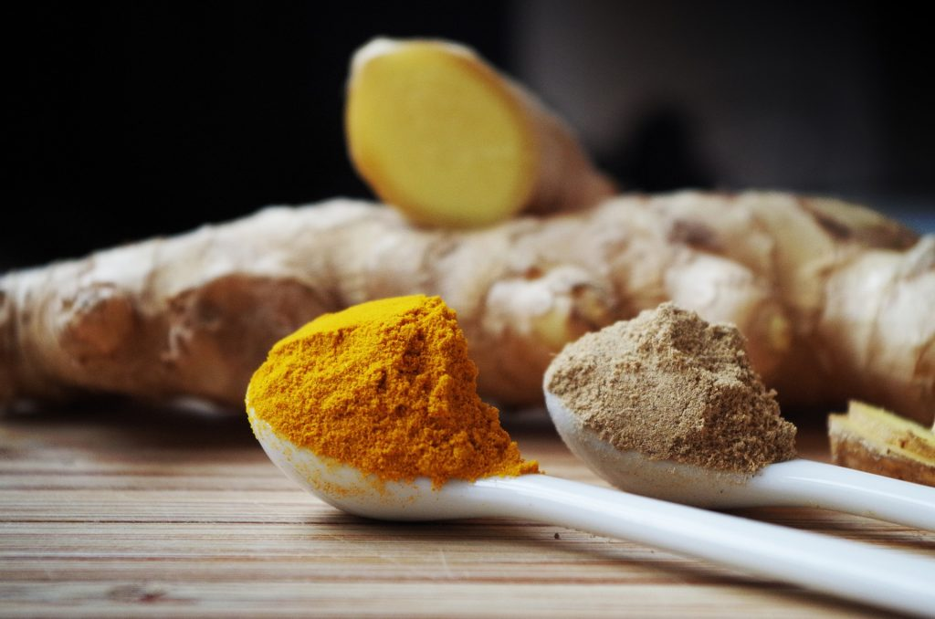 ginger and turmeric powder for boost immune system function