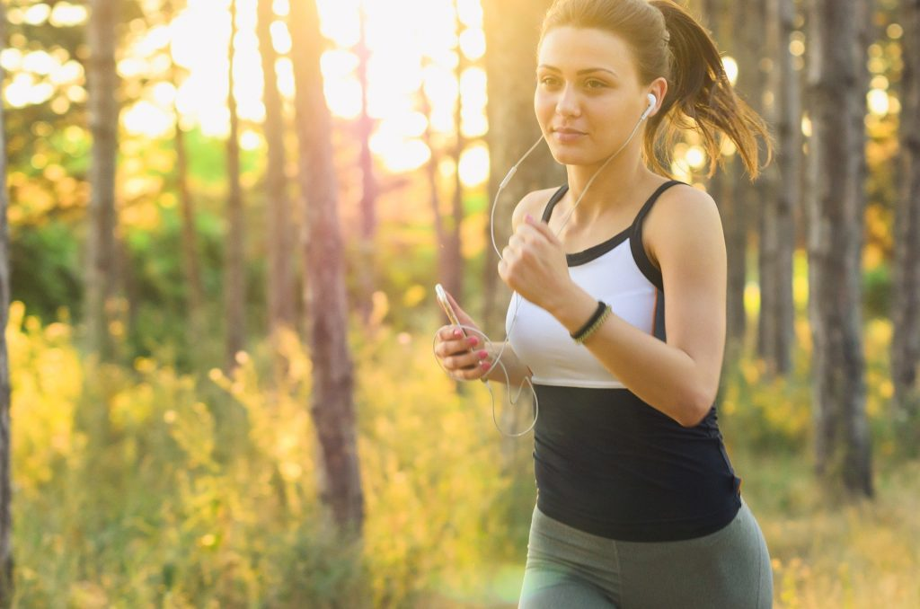 woman running to build immune health