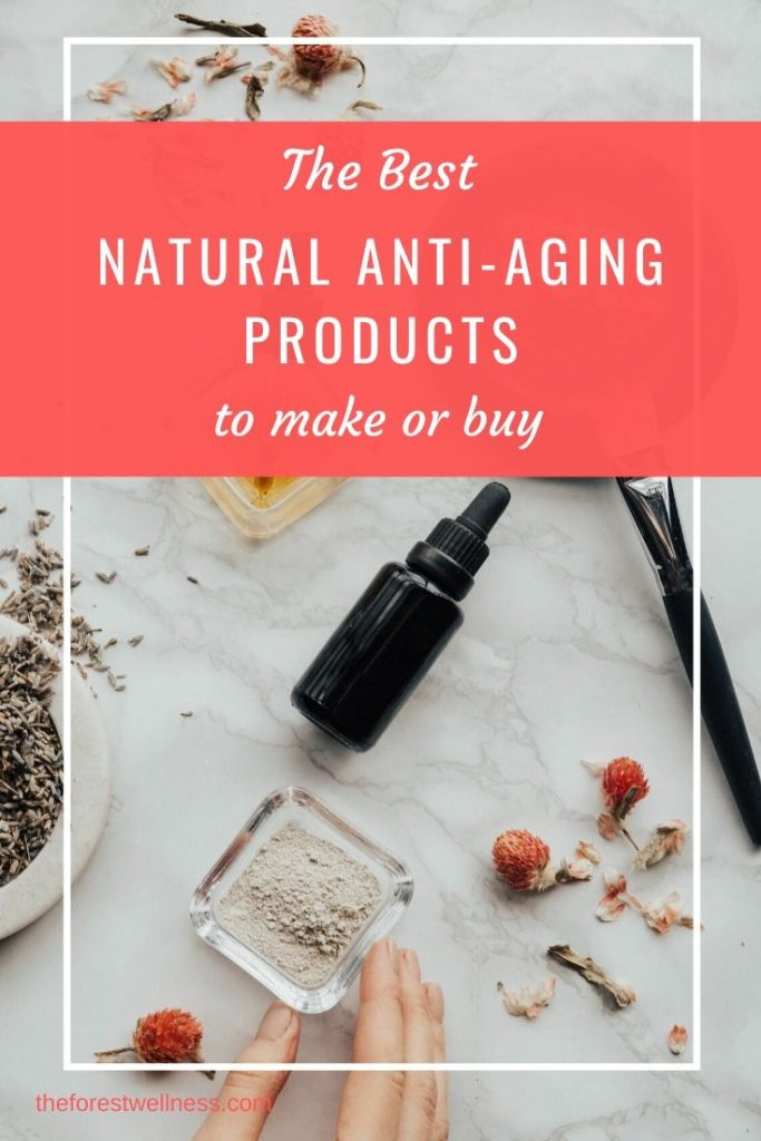 Everything you need to know about natural anti-aging and anti wrinkle products: which work the best for fine lines, deep lines, saggy skin, and more. Plus, three recipes to make your own anti-aging creams and serums.